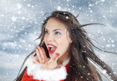 J'aime la neige Image libre de droits