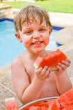 J'aime la pastèque ! Photos stock