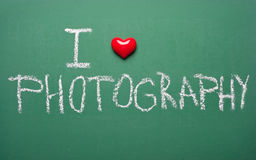 J'aime la photographie Image stock