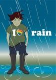 J'aime la pluie Image libre de droits