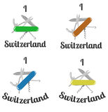 J'aime la Suisse Photographie stock libre de droits