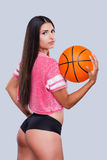 J'aime le basket-ball ! Photographie stock libre de droits
