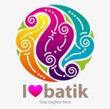 J'aime le batik illustration stock