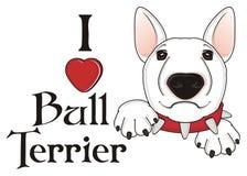J'aime le bull-terrier Image stock