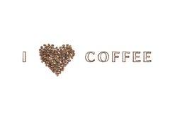 J'aime le café Photographie stock libre de droits
