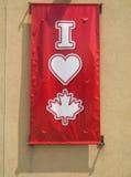 J'aime le Canada Images libres de droits