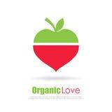 J'aime le concept d'aliment biologique illustration libre de droits