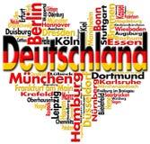 J'aime le Deutschland Photos libres de droits