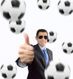 J'aime le football Images stock