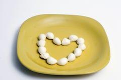 J'aime le fromage de mozzarella Photo libre de droits