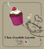 J'aime le gâteau de chocolat Illustration Libre de Droits