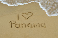 J'aime le Panama Photos stock