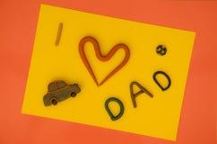 J'aime le papa Image stock