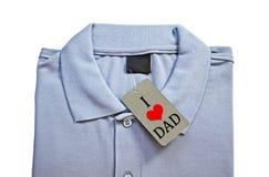 J'aime le papa sur le prix d'étiquette du T-shirt des hommes Photos libres de droits