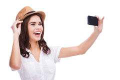 J'aime le selfie ! Photo stock