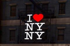 J'aime le signe de NY NY Image libre de droits