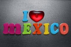 J'aime le signe du Mexique Photos libres de droits