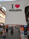 J'aime le T-shirt d'Heidelberg Photos stock