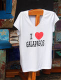 J'aime le T-shirt de Galapagos Photos stock