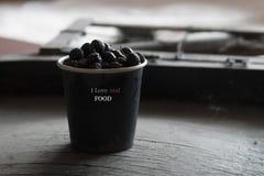 J'aime le vrai concept de nourriture Photo stock