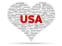 J'aime les Etats-Unis Photo libre de droits