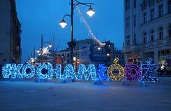 J'aime Lodz Images libres de droits