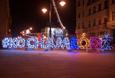 J'aime Lodz Photographie stock