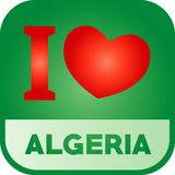 J'aime Logo Algeria illustration de vecteur