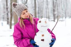 J'aime M. Bonhomme de neige Images stock