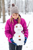 J'aime M. Bonhomme de neige Photo stock