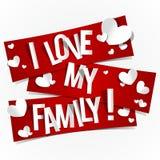 J'aime ma famille Photo libre de droits