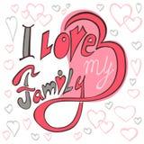 J'aime ma famille Images libres de droits