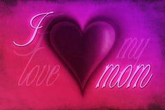 J'aime ma maman Photo libre de droits