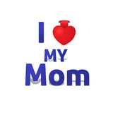 J'aime ma maman Image stock