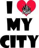 J'aime ma ville Photo libre de droits