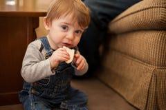 J'aime manger des casse-croûte photo stock
