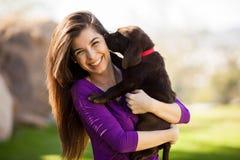 J'aime mon chien ! Images libres de droits