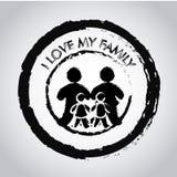 J'aime mon joint de famille Images libres de droits