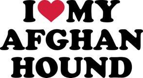 J'aime mon lévrier afghan Photo libre de droits