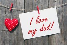 J'aime mon papa Images libres de droits