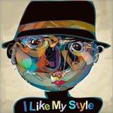 J'aime mon style Photo stock