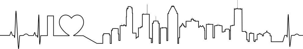 J'aime Montréal dans un style extraordinaire d'ecg illustration de vecteur
