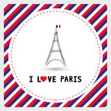 J'aime Paris card6 Images libres de droits
