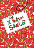 J'aime Santa. Photo stock