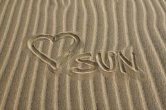 J'aime The Sun Image libre de droits