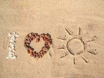 J'aime Sun Photographie stock