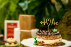 J'aime un gâteau photographie stock
