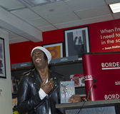 J. Alexander. NEW YORK - FEBRUARY 17: Jay Alexander AKA Miss J, Supermodel, TV personality, author signing his book Follow The Model! at Borders bookstore on royalty free stock image