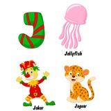 J alphabet cartoon Stock Images