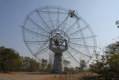 jätte- wave för teleskop för radio för gmrtindia räkneverk Arkivfoto